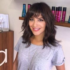 Medium Length Hairstyles For Thick Hair With Bangs