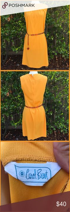 "Vintage Carol Brent 1960's vintage Carol Brent, I have become to fond of vintage: this is no exception, gorgeous summer color, chic, light, cozy and looks as stepped out of a 1960's movie set!. Size 6 measurements are as follows 18 from arm to arm pit, 31"" in length. Fits a good med/large! Carol Brent Dresses Midi"