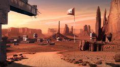 Mars colony by Caroline Gasnier