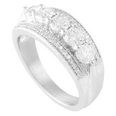 5 across, prong set with milgrain detaildiamond band, or right hand ring.  Style #5403  1.25ct   Available in 2 tone:Yes  Metal:Any Metal  Wedding band  Ring Width mm;8.5 x 3.1 mm