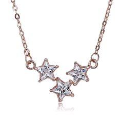 Luxusná retiazka s príveskom kryštálových hviezdičiek Silver, Jewelry, Jewlery, Jewerly, Schmuck, Jewels, Jewelery, Fine Jewelry, Jewel