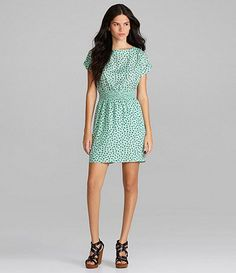 Available at Dillards.com #Dillards Sophisticated Style, Bcbgeneration, Dillards, Short Sleeve Dresses, Prints, Clothes, Shopping, Vintage, Women