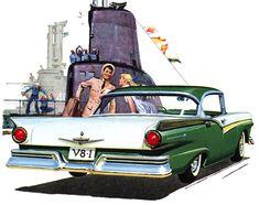 Plan59 :: Classic Car Art :: 1957 Ford Fairlane
