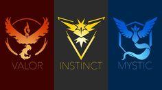Valor Instinct and Mystic logo Pokemon GO Wallpaper