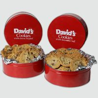 4 Two Pound Tins of Fresh Baked Cookies Value Pack