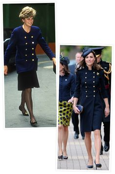 Princess Diana and Kate Middleton's Similar Style  The Royal Navy