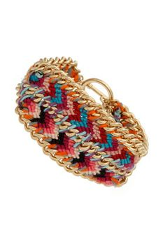 A twist on the classic friendship bracelet.