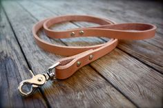 Handmade leather dog leash by ADHLeatherCo on Etsy, $25.00                                                                                                                                                                                 More