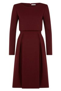 Russell Dress Burgundy - Front
