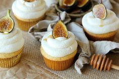 Sweet Honey Cupcakes with Mascarpone Frosting and Caramelized Figs - Life Made Simple
