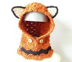 #CROCHET #PATTERN Fox #Cowl Crochet Cowl Pattern Hooded by zxcvvcxz