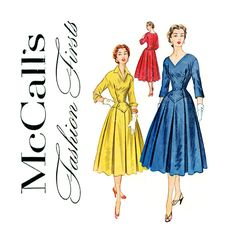 Vintage Sewing Pattern 1950s Dress Fashion Firsts by CynicalGirl