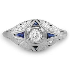 18K White Gold The Sheila Ring from Brilliant Earth