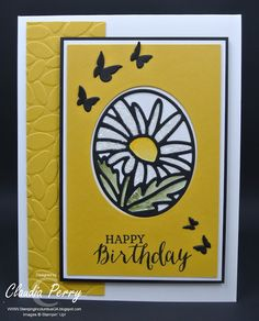 Stamping in Columbus, GA: Timeless Tags - Stained Glass Daisy