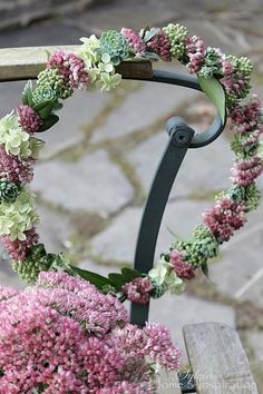 Succulents and Floral Wreath