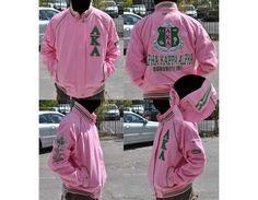 AKA Letterman Jacket Greek Store, Alpha Kappa Alpha Sorority, Big Boys, Pink And Green, Adidas Jacket, Rain Jacket, Windbreaker, Graphic Sweatshirt, Zip
