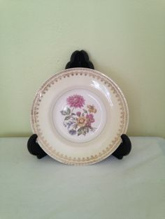Salem Symphony Bread Plates Set of 4  / 23k Gold Trim / 1930's Antique USA China Dinnerware by ThePinkVintageRose on Etsy