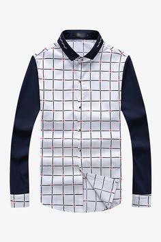 Two-Tone Plaid Shirt