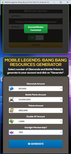 Mobile Legends Hack Generator — Mobile Legends Free Diamonds Mobile Legends Hack 2019 Updated Generator — How to Get Unlimited Diamonds No Survey No Verification Mobile Legends Bang Bang Hack — Get. New Mobile, Mobile Game, Moba Legends, Episode Choose Your Story, App Hack, Android Hacks, Android Art, Iphone Hacks, Iphone Mobile