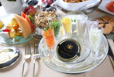 Altira Macau caviar breakfast