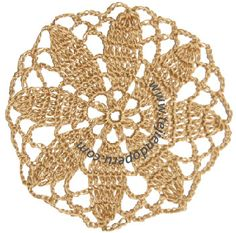 Tutorial: design coasters with crochet flower Crochet Mandala, Crochet Motif, Crochet Doilies, Crochet Flowers, Crochet Squares, Granny Squares, Learn To Crochet, Shawls And Wraps, Knit Patterns