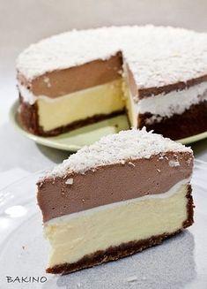 Sernik z musem czekoladowym Polish Desserts, Polish Recipes, Cookie Desserts, No Bake Desserts, Sweet Recipes, Cake Recipes, Dessert Recipes, Cheesecake, Just Cakes