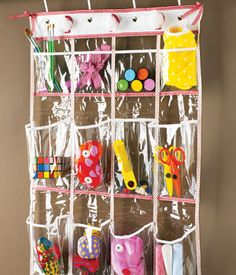 clever idea for repurposing a shoe rack.