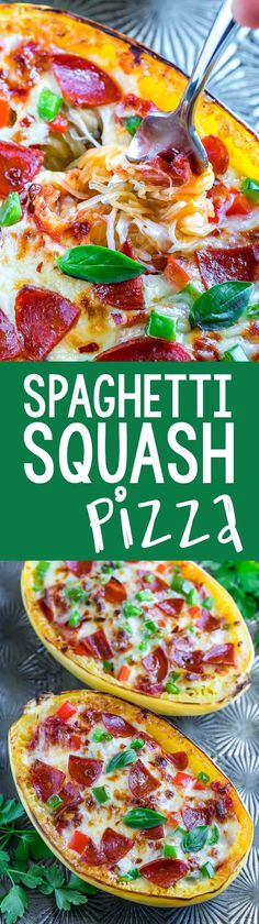Whip up theseVeggie Lover's Spaghetti Squash Pizza Boats for a low-carb + gluten-free pizza night of epic proportions!