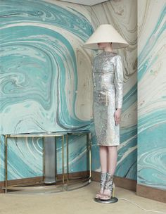 Gorgeous (fantasy) marble walls. TUSH magazine editorial, photographed by Armin Morbach.