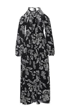Silk Open Shoulder Maxi Dress by THAKOON ADDITION