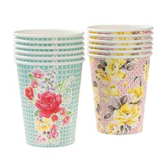 Give your party a touch of sophistication with our darling Tea Party Cups! Quantity: 12 Plates per pack in 2 exquisite designs. Capacity: 9 oz