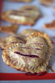 Simple Cherry Heart Hand Pies - A perfect valentines day treat for your loved one.