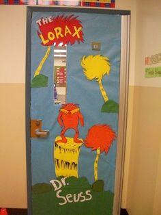 Dr. Seuss door deco by a friend teacher.