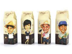 Rice! Nice! Here is a package that reflects all stages of rice production by putting all those involved in its production. Great idea.