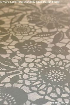 Lace Stencil Floor Transformation