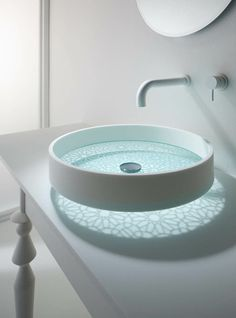Clean Lines, Gorgeous...a floating bathroom sink  http://www.justleds.co.za