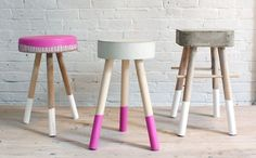 DIY Creative Stools • Tons of Ideas & Tutorials! Including from 'homemade modern', this cool modern DIY stool project with each stool costing only $5 to make!