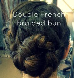 Double French Braided bun