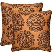"18"" x 18"" Vintage Autumn Spice Filigree angelo:HOME Pillow"