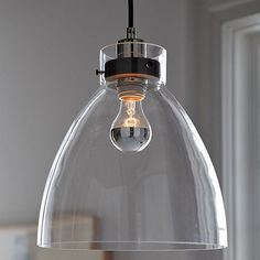 industrial glass pendant lights design