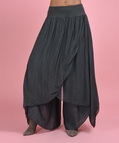 Another great find on #zulily! Anthracite Assymmetric-Base Harem Pant #zulilyfinds