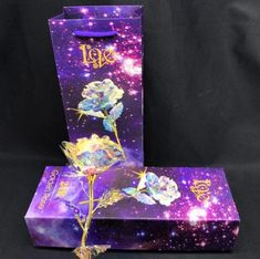 Galaxy Rose with Love Base Anniversary Gift Gift Boxes Uk, Teachers Day Gifts, Romantic Flowers, Gifts For Your Mom, Crystal Flower, Gift For Lover, Lovers Gift, Engagement Gifts, Valentine Day Gifts