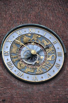 All sizes | Astronomical clock of Oslo City Hall, via Flickr.