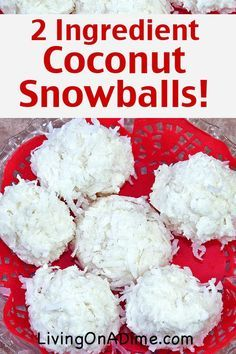 These easy 2 ingredient coconut snowball candies are a white chocolate and coconut dream! These are great for parties and also make wonderful Christmas candy gift ideas! They're part of our 25 best easy Christmas candies, all of which can be found here!