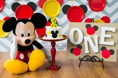 One Year Cake Smash, Boy, Mickey Mouse, Denise Crites Photography by maryanne