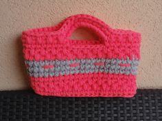 El Faro Rosa- Amigurumis y Crochet: Bolso capazo de trapillo