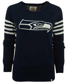 \u0026#39;47 Brand Women\u0026#39;s Seattle Seahawks Drop Needle Sweater