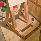 Build your own portable outboard motor stand. Outboard Motor Stand, Outboard Motors, Plywood Boat Plans, Wooden Boat Plans, Wooden Boat Building, Boat Building Plans, Boat Projects, Diy Wood Projects, Boat Stands