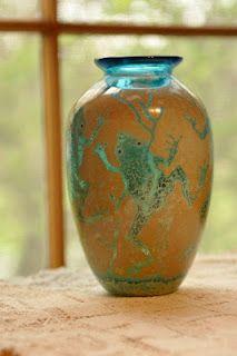 Frog fine art glass