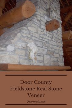 Door County Fieldstone real thin stone veneer fireplace. This beautiful fireplace adds a rustic feel to this outdoor living space. #naturalstoneveneer #realstoneveneer #thinstoneveneer #fireplace #beautifulfrieplaces #masonry #outdoorliving #rusticfireplaces #rusticdesign #stonefireplaces #stonesiding